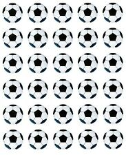 """30 X 1.5"""" Football Edible Icing,Fairy Cup Cake Toppers"""