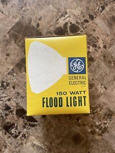 Vintage General Electric 150 WATT FLOOD LIGHT CLEAR NEW IN ORIGINAL BOX