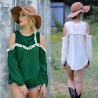 Women Off Shoulder Loose Casual Long Sleeve Sexy T Shirt Tops Blouse Tee Tops