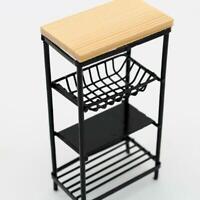 BIN 1:12 Miniature Dollhouse Black Furniture Wooden Washing Cabinet/Kitchen Sale