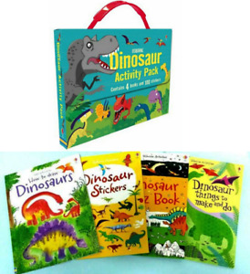 Usborne Dinosaur Activity Pack Stickers,Drawing,Quiz Book+ FREE ship $35