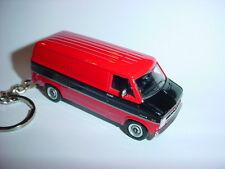Nuevo 3D 1977 Chevrolet G20 Van Custom Llavero Key Rojo/Negro Dos Tonos 77'