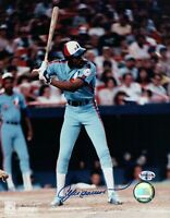Andre Dawson Signed 8X10 Photo Autograph Montreal Expos Road Batting w/COA
