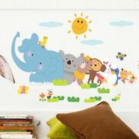 ZOO ANIMAL Elephant Decal Mural Decor Kid Room Home Wall Stickers Baby Love UK