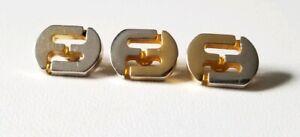 Vintage Ferragamo F Logo 2-Tone (Silver & Gold) Button Lot