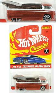 HOT WHEELS Classics #25/30 VW Drag Truck orange Series II
