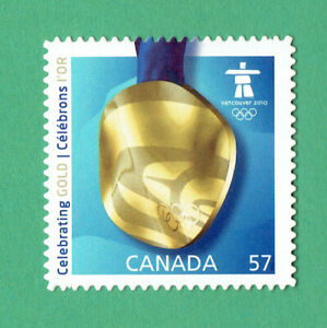 Canada (2010) Sc # 2371 VFNH VANCOUVER OLYMPICS GOLD MEDAL  Die Cut Stamp