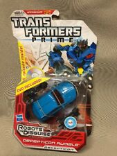 Hasbro TRANSFORMERS PRIME Decepticon Rumble Figure DVD INCLUDED