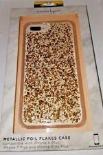 NANETTE LEPORE GOLD METALLIC FOIL FLAKES IPHONE 6, 7, 8 PLUS MOBILE CASE BLING