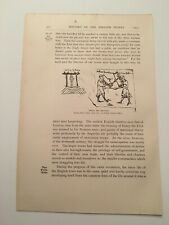 T22) Trial by Battle King Henry III England c. 1892 Print