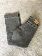 361395d35 Tommy Hilfiger Stovepipe Worn In Grey Distressed Straight Jeans UK 8 US 6  32