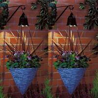 2 x Solar Hanging Led Basket Spot Light Chain Outdoor Garden Flower Planter