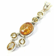"Less than 13"" Amber Not Enhanced Fine Necklaces & Pendants"