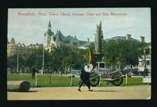 AK Shanghai, Bund Palace Hotel, German Club + Iltis Monument, 1913 (60697)