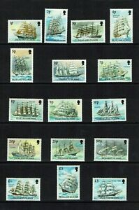 Falkland Islands: 1989  Cape Horn Sailing Ships, definitive series, MNH set