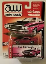 2015 AW Auto World Vintage Muscle 1970 Dodge Challenger T/A Purple 1:64 Scale R4