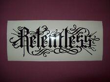 Relentless Decals / Stickers x2