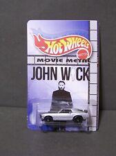 """Custom HotWheels  BOSS MUSTANG  and package of  """"Movie Metal""""  JOHN WICK"""