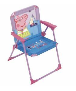 NEW KIDS PEPPA PIG DOOR/OUTDOOR BEACH FOLDABLE CHAIR 3+
