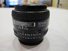 Nikon AF Nikkor 50mm F/1.4D Digital SLR Prime Lens - Excellent