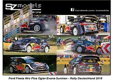 1/43 Rally Decal Addi Ford Fiesta Wrc Ogier Evans Suninen Deutschland 2018 Spark