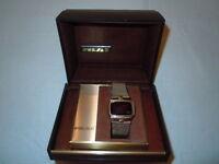 Vintage luxury  14K Gold Filled Pulsar Digital Watch (1976)
