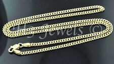 3.30 grams 18k solid Yellow gold curb link chain necklace 16 inches #548