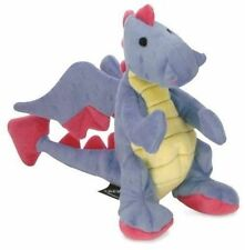 goDog Dragon With Chew Guard Technology Tough Plush Dog Toy Large Periwinkle