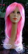 HOT! .. Calypso Wig .. Hot Pink with White ..