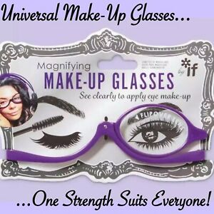 Magnifying Makeup Glasses Flip Over Lens Universal Strength Make Up Ladies Gift
