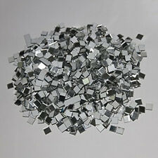100X Glass Mosaic Tiles Mini Square Mirror Decal Home Wall Craft Decor Diy Usa