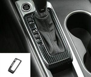 Carbon fiber Inner Gear Shift Box Panel Cover Trim For Nissan Teana Altima 2019