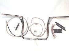 """14""""  Z Bars 1.25"""" Fat Ape Hanger Handlebar Package Kit Touring Bagger 08- 13"""