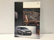 Brochure Catalogue ZENITH - El Primero Chronomaster RANGE ROVER Velar - English