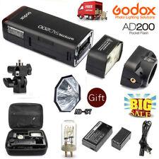 Godox AD200 1/8000s 2.4G TTL HSS Pocket Flash Light + Free AD-S7 Softbox Kit NEW