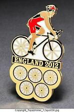 OLYMPIC PINS 2012 ENGLAND U.K. SPORT OF CYCLING CYCLIST BIKING - GOLD BACKED