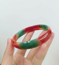 Dream Multi-Coloured NATURAL JADE BANGLE BRACELET 68-70 mm BIG SZ BOX