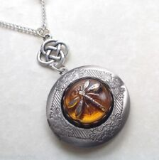 Handmade Silver Plated Amber Costume Necklaces & Pendants