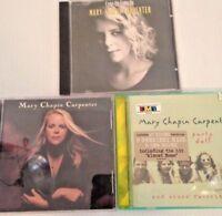 Mary Chapin Carpenter Folk Country Rock Music CD Lot