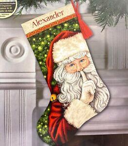 "DIMENSIONS Gold ""Secret Santa Stocking"" Christmas Counted Cross Stitch Kit"