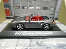 PORSCHE 911 997 Turbo Cabrio Cabriolet 2007 silber silver Dealer Minichamps 1:43