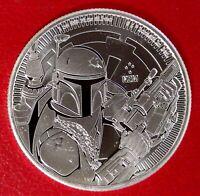 2020 Niue Star Wars Series Boba Fett 1 oz .999 FINE Silver BU Coin-IN HAND LIVE