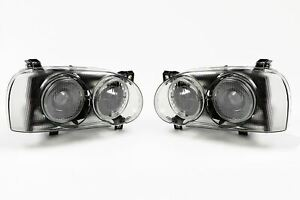 VW Golf MK3 92-97 Smoked Projector Headlights Set Pair Left Right Near Off Side