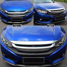 Bonnet Hood Chrome Cover Trim For Honda Civic 2016-2018 Sedan Coupe Hatchback