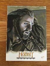 Cryptozoic The Hobbit Sketch Card  DoS  1/1 Thorin by Kris Penix