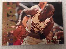 1995-96 Michael Jordan Fleer Total D 90's Insert Chicago Bulls Goat Smudge BLC