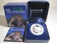 2008 New Zealand HAAST TOKOEKA KIWI Silver Proof $1 (Wildlife/Animal) COIN