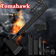More details for hunting camping axe military survival folding hatchet ultra sharp blade hammer