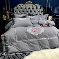 Luxury Princess Bedding Set  Bed Set Embroidery Egyptian Cotton Set Duvet Cover