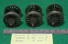 O GAUGE LOCO WHEELSETS  X 3 -  CAST IRON,  4ft 7in
